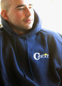 SW Boatworks and Calvin Beal Boats Hanes Ultimate Cotton Hooded Pullover